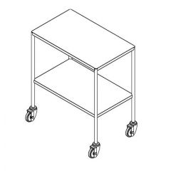 Stainless Steel Instrument Trolley without Divider