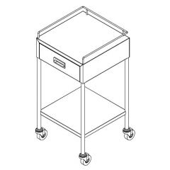Stainless Steel Dressing Trolley with Drawer