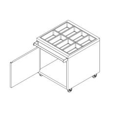 Stainless Steel Cutlery / Utensil Holder Cabinet with Wheels