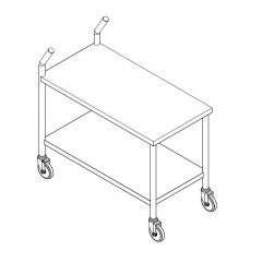 Stainless Steel Trolley with Handle Bar Design
