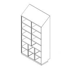 Stainless Steel Cleanroom Garment Cabinet (Open Type)