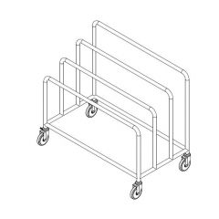 Stainless Steel Wrapping Paper Trolley
