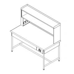 Stainless Steel Packing Cabinet with Drawer