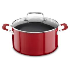 "KITCHENAID (COOKWARE) Aluminium Nonstick 8"" Stockpot with Lid KC2A60LCER"