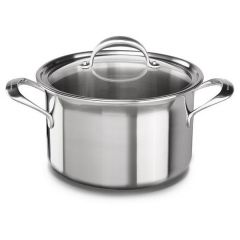 KITCHENAID (COOKWARE) Tri-Ply Stainless Steel 8.0-Quart Stockpot with Lid KC2T80SCST