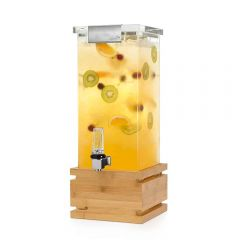 ROSSETO Square Bamboo Beverage Dispenser with Lock (3 Gal) LD147