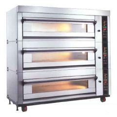 MB Fully Automatic Electronic Gas Baking Oven 2 Decks 4 Trays (400 x 600) MBE-202SG-Z