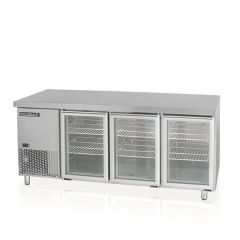 MODELUX GLASS 3 DOOR COUNTER CHILLER MGRT-3D6-1800