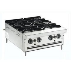 MSM 4 Open Burner Counter Top Range BTU 60,000 MSM-4-OB