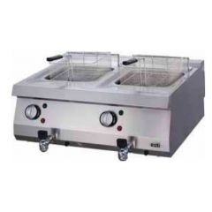 OZTI Countertop Gas Double Tank Fryer OFGI-8070