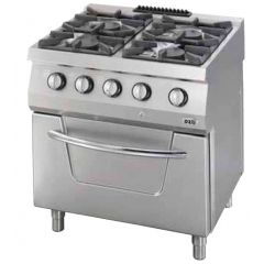 OZTI 4 Gas Open Burner With Oven OSOGF-8070