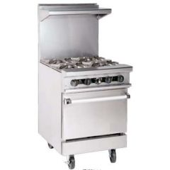 "POWERLINE 4 Burner Ranges With Oven 24"" PTMD24-4-1"