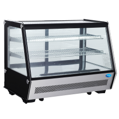 SNOW Counter Top Curve Glass Display Chiller 160L RTW-160L-4