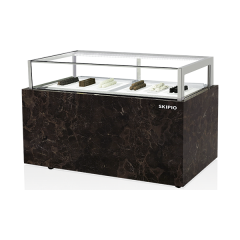 SKIPIO 1200MM Chocolate Showcase Freezer with Digital Hygrometer and Drawer SCD-1200D