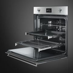 SMEG 60cm SS Classic Series Fingerproof Electric Thermoventilated Oven SF6390XE