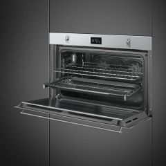 SMEG 90cm SS Classic Series Electric Thermoventilated Oven SF9390X1