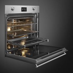 SMEG 60cm SS Classic Series Fingerproof Electric Thermoventilated Oven, Pyrolitic SFP6390XE
