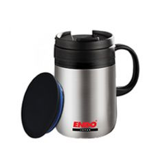 ENDO 480ML Desk Mug + Tea Strainer CX-3003 (Pure Stainless)