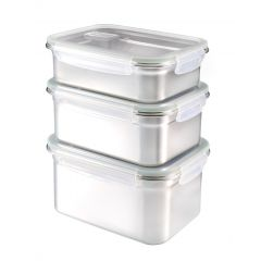 BUFFALO Stainless Steel 304 Food Container Set C/W Airvent SP111
