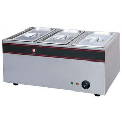 FRESH THREE-HEAD ELECTRIC BAIN MARIE BS-3V