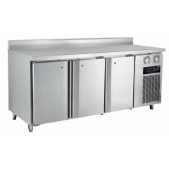 FRESH 3 Doors Counter Refrigerator Chiller (6FT C/W BackSplash) DWF18M3-76B