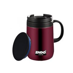 ENDO 480ML Desk Mug + Tea Strainer CX-3003 (Urban Brown)