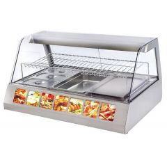 ROLLER GRILL Two Levels Merchandiser Warming Display with Lighting Device & Humidity Control VVC-1200