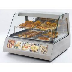 ROLLER GRILL Two Levels Merchandiser Warming Display with Lighting Device & Humidity Control VVC-800