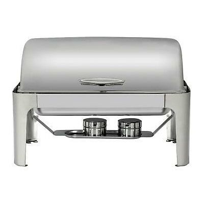 Chefhub Stainless Steel Rectangular Roll Top Chafing Dish 121213