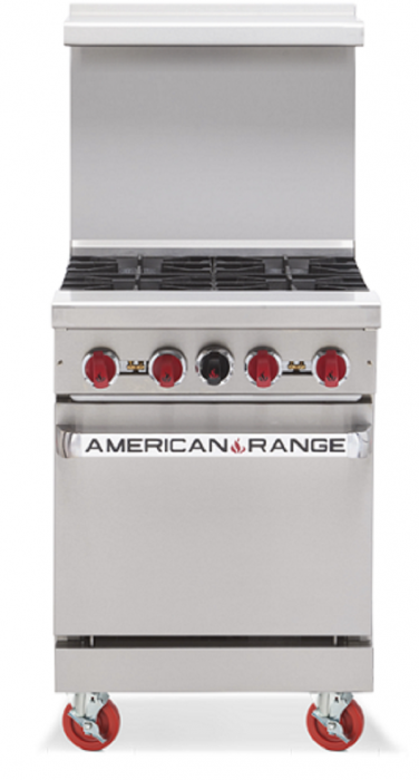 AMERICAN RANGE 4 Open Burner with Oven AR-4