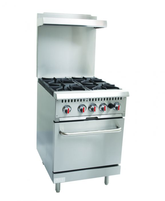 CHEFONIC 4 Open Burner Range With Oven & Backsplash S24-5