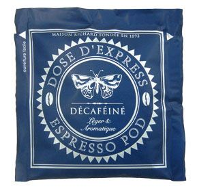 Cafes Richard Espresso Pods DECAFFEINATED (Box of 25 pods)