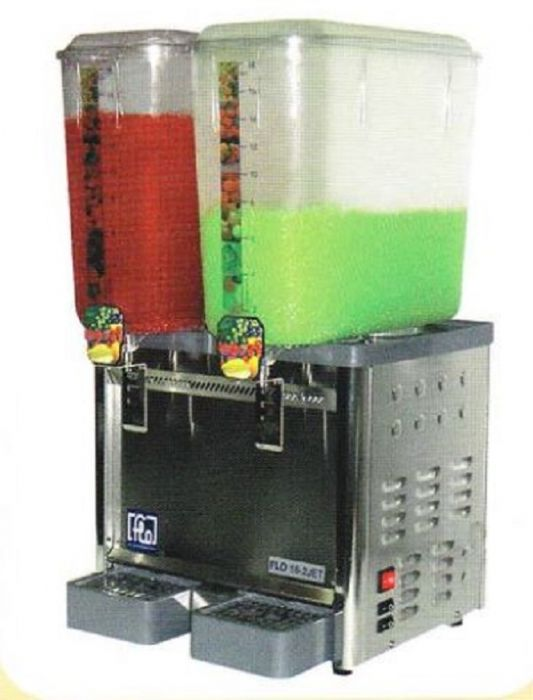 FLOMATIC Stirred System 2 Tank Juice Dispenser 18L Jet Series FLO-18-2-JET