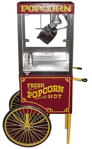CRETORS 6oz Goldrush Popper with Wagon Base Popcorn Machine 6GPWB