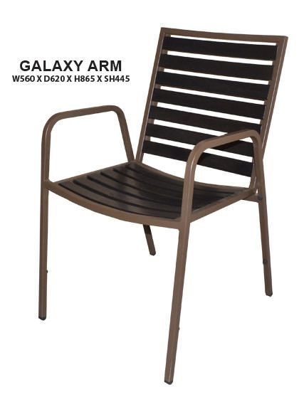 Galaxy Arm Outdoor Chair   Steel Frame in Epoxy