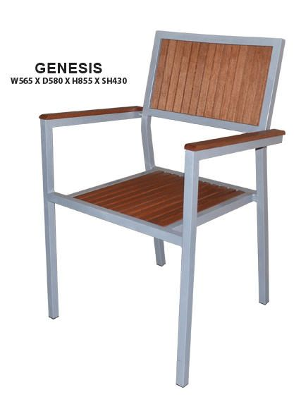 Genesis Outdoor Chair | Steel Frame in Epoxy