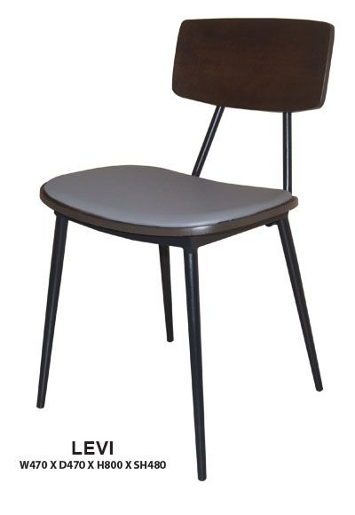 Levi Dining Chair   Cushion Seat   Steel Frame in Epoxy