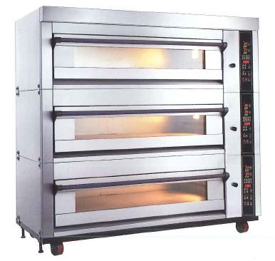 MB Fully Automatic Electronic MBE-203SG-Z Gas Baking Oven 3 Decks 6 Trays