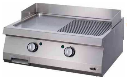 OZTI Double Gas Countertop Grill & Griddle Plate OGG-8070-1/2N