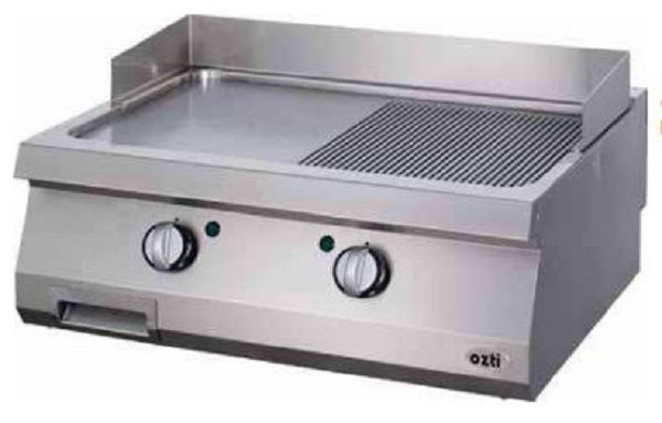 OZTI Gas Electric Countertop Grill & Griddle Plate OGE-8070-1/2N