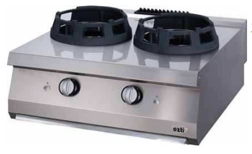OZTI Gas Wok Cooker With Double Burner Countertop OWG-8070
