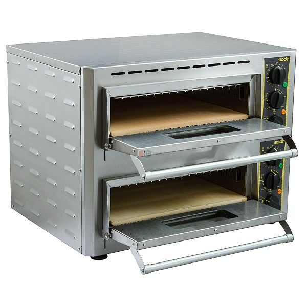 ROLLER GRILL Two Deck Pizza Oven PZ-430D