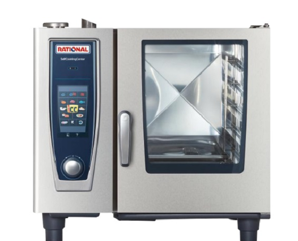 RATIONAL SelfCooking Center Electric Combi Oven 6 Tray 1/1 GN (3NAC 415V) SCC 61E