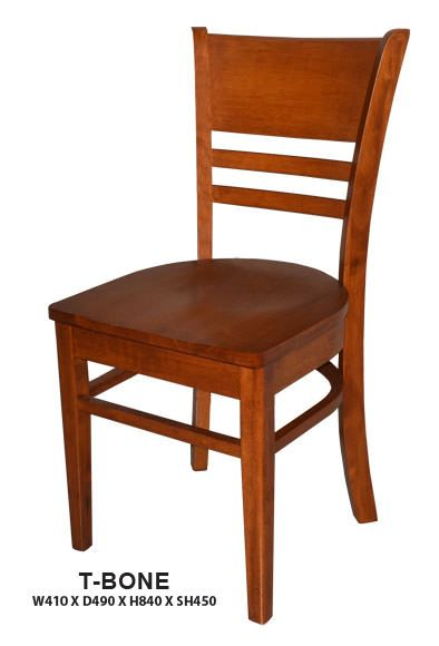 T-bone Dining Chair | Wooden Seat