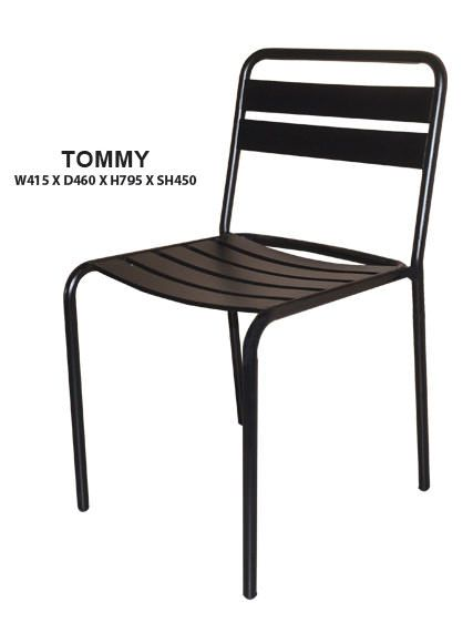 Tommy Side Outdoor Chair | Steel Frame in Epoxy