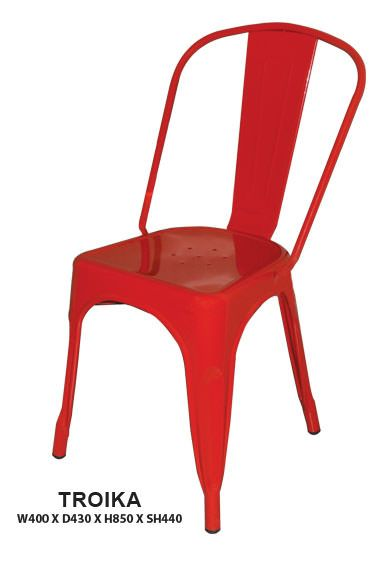 Troika Dining Chair | Steel Frame in Epoxy