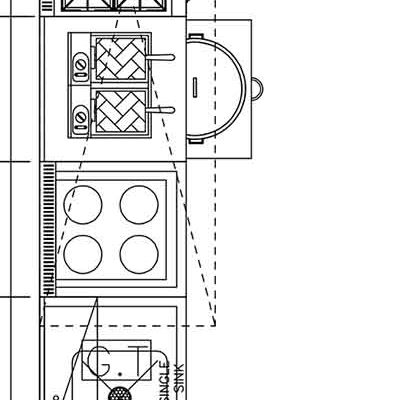 cafe kitchen layout